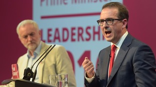 Owen Smith appears to call Jeremy Corbyn a 'lunatic' at Labour leadership rally