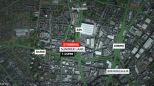 A man was found with life threatening injuries on Summer Lane