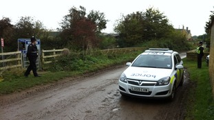 Police officers on patrol in Gloucestershire near where the Assistant Chief Constable of Leicestershire Police died