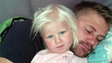 Two-year-old Mckayla Bruynius was swept into the sea in Newquay alongside her dad Rudy. Sadly both have died.