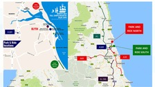 Park and ride maps for Blyth.