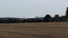 The world's largest aircraft has crashed during its second test flight