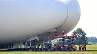 The world's largest aircraft crashed during its second test flight