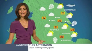 Afternoon weather update with Lucy Verasamy