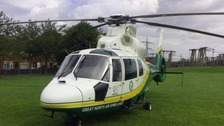 Girl airlifted to hospital with broken leg after falling from banana boat