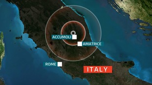 The quake was felt in Rome, with Amatrice being one of the worst-hit areas.