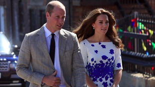 The Duke and Duchess of Cambridge arrive at Bute Mill in Luton