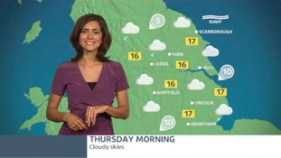 The morning forecast with Lucy Verasamy