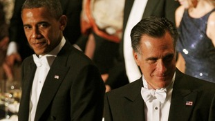US President Barack Obama and Republican rival Mitt Romney