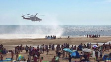 Five dead at Camber Sands beach believed to be young men from London