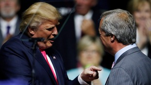 Nigel Farage tells ITV News: Donald Trump can be US president