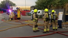 Fifty firefighters tackle blaze at industrial estate