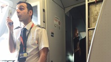 EasyJet flight delayed after cabin crew row