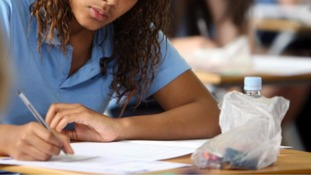 GCSE pupil sitting exam