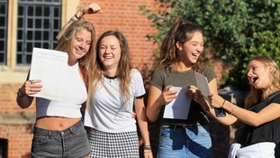 GCSE results show grades have fallen but girls continue to do better than boys