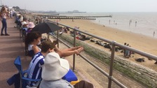 Getting the best seat: Arriving early for Clacton Airshow