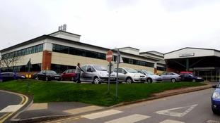 County Hospital, formerly named Stafford Hospital.