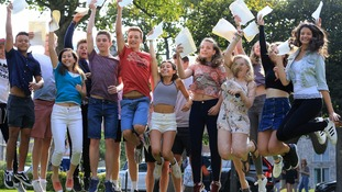 Pupils celebrate their GCSE's