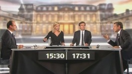 French rivals clash on TV