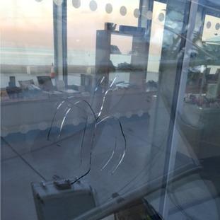 crack in glass