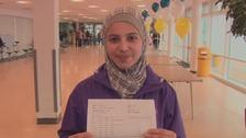 'Syrian Malala' celebrates GCSE results