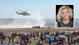 Hopkins (inset) tweeted an offensive poll about the Camber Sands victims