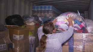 Donations arrive for refugees