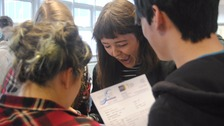 Whitley Bay High School: Students receive their results