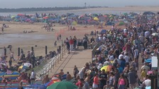 Crowds head to the beach for Clacton for Airshow