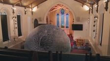 Kendal church filled by giant inflatable moon