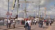 Crowds visiting Hartlepool's Tall Ships event in 2010.