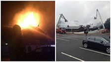 Crews remain at the scene of serious fire in Wall Heath