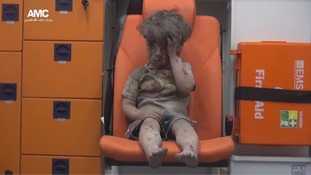 Syrian boy Omran Daqneesh was filmed sitting alone in the back of an ambulance before being taken to hospital following an airstrike in Syria.
