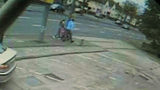 CCTV still of  the van believed to have been involved in a hit-and-run incident