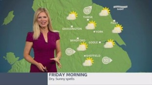 GMB weather update with Jo Blythe