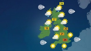 Weather: Another bright and sunny day with highs of 26C