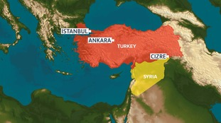 A bomb blast in Cizre, close to the borders of both Syria and Iraq, has a largely Kurdish population.