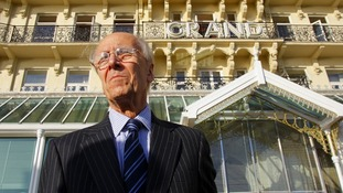 Lord Tebbit Grand Hotel in Brighton, East Sussex on the 25th anniversary of the bombing of the building in October 2009