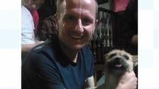 Dion Leonard with Gobi