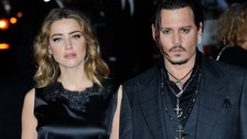 Amber Heard and Johnny Depp attend the Black Mass premiere in 2015.