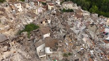 The extent of the damage in Pescara del Tronto