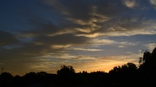Sunrise over Great Whelnetham in Suffolk