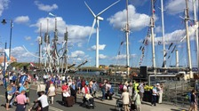 The sunshine is out for the Tall Ships
