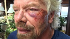 Richard Branson's 'life flashed before eyes' in bike crash