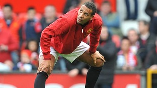 Manchester United's Rio Ferdinand during the warm up