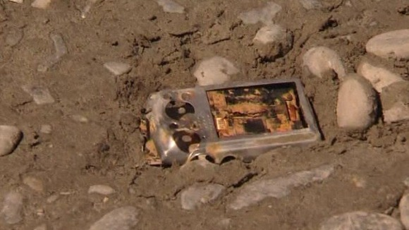 The camera was buried under mud after the quake