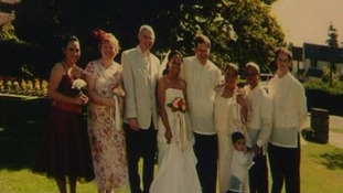 Fen Jerimiah and Martin Burley on their wedding day