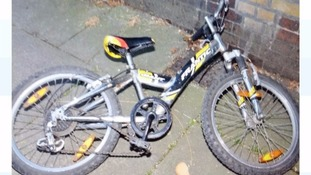 The mountain bike found where the boy was reportedly abducted.