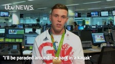 'I'll be paraded around in a kayak': Olympic homecoming
