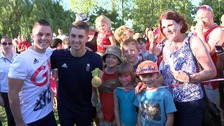 Max Whitlock returns to hero's welcome at his gym